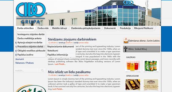 CIDO iekšējās darbinieku mājas lapas izstrāde